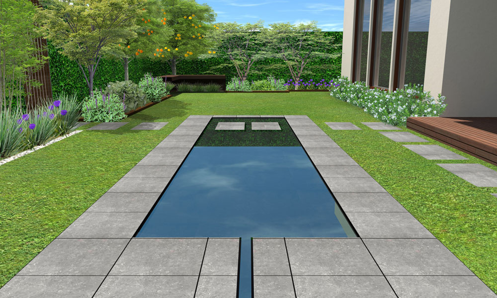 pool and garden designs