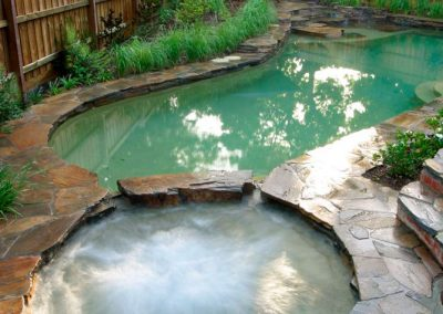 waterfall landscaped pool