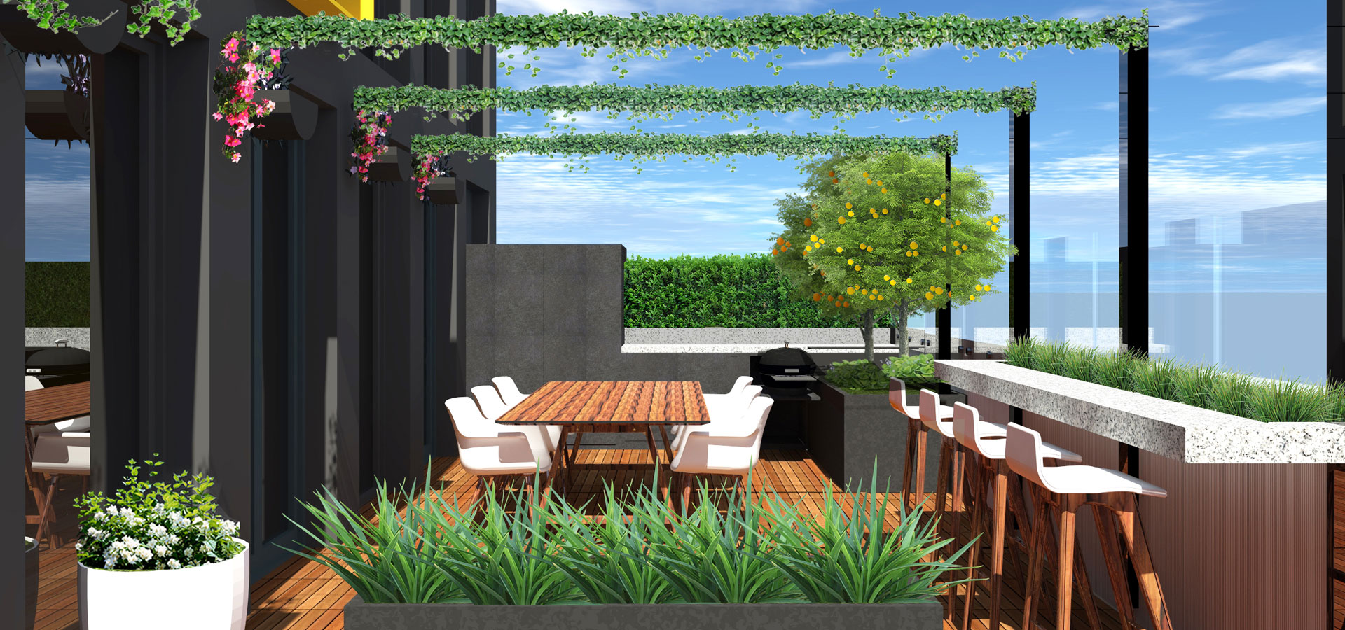 rooftop garden design and construction