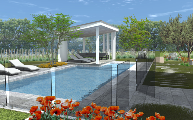 3D pool design by outdoor creations melbourne