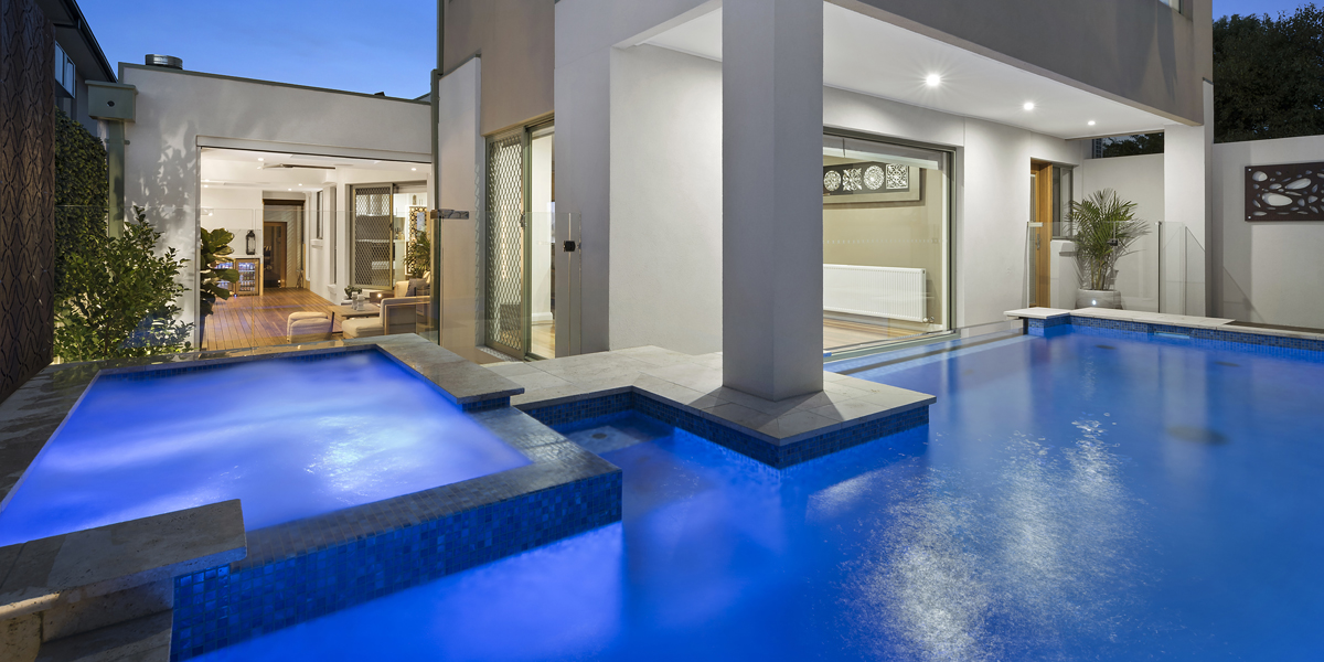 award winning pool designers melbourne grand feature pool