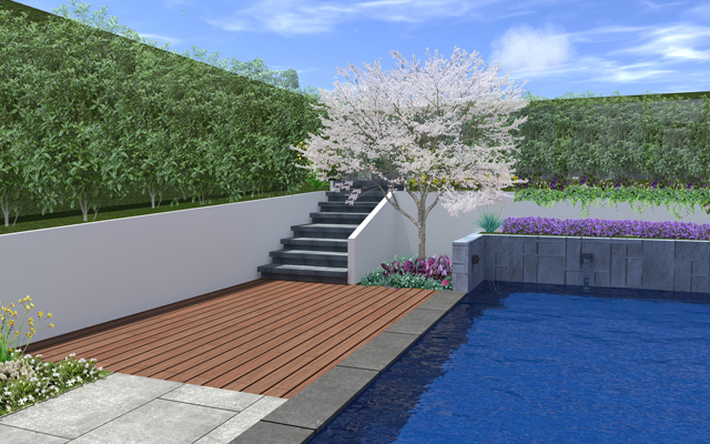 landscape designer david kirkpatrick 3D image of pool design melbourne