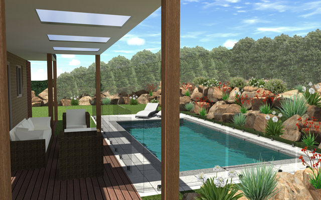 gorgeous 3D design of award winning swimming from design image in melbourne