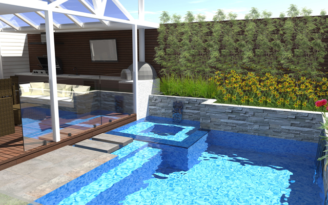 beautiful swimming pool design by outdoor creations melbourne