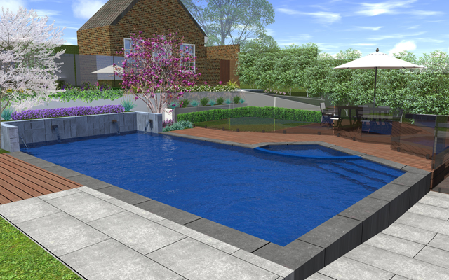 stunning 3d design of feature swimming pool in melbourne backyard