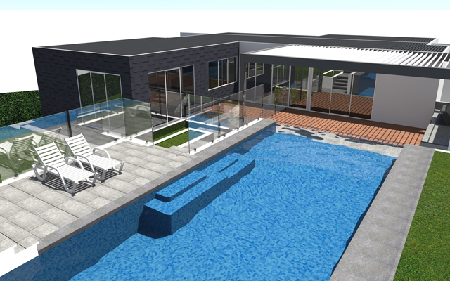 3D swimming pool designs by outdoor creations